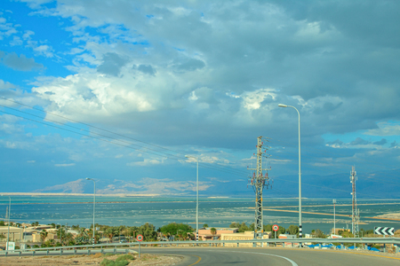 Cloud attack summery Dead Sea Stock Photo