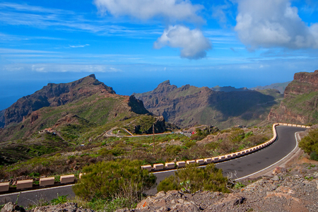 Mountain views drive to Mask the village, Tenerife