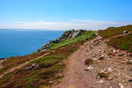 gully: Rocky coast. Point Pen Hir. Armorique Regional Park. Bretagne. France