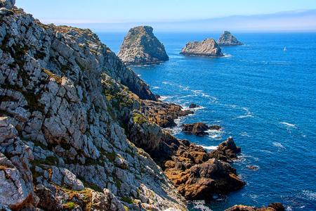 Rocky coast. Point Pen Hir. Armorique Regional Park. Bretagne. France
