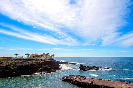 Tenerife rocky coast Stock Photo