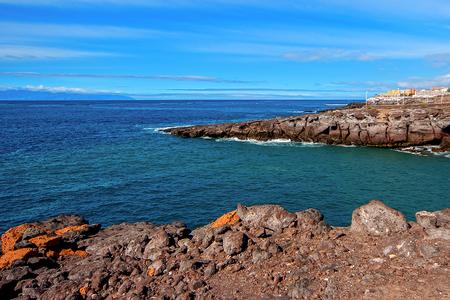 Tenerife rocky coast Stock Photo
