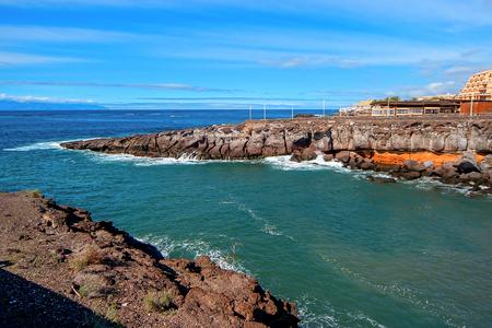 repose: Tenerife rocky coast Stock Photo