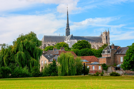 Amiens is a city in northern France, in the department of the Somme region of Picardie Stock Photo