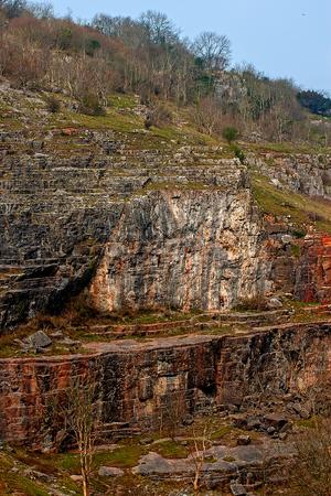 gully: Cheddar village, Somerset, UK