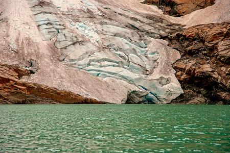Briksdal glacier at the foot