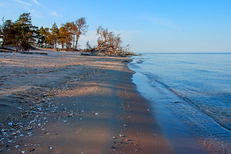 backwater: Cape Kolka where two sea meet in the middle