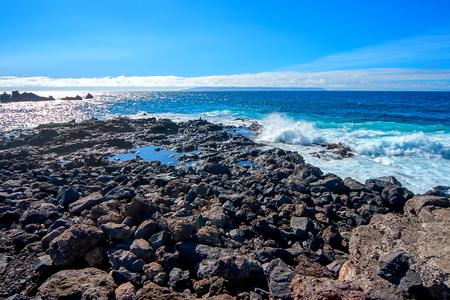 Atlantic coast of the island of Tenerife Stock fotó