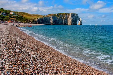 normandy: Limestone cliffs of Etretat