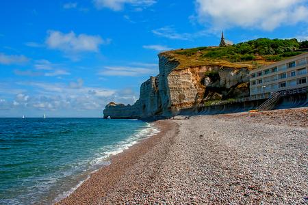 gully: Limestone cliffs of Etretat