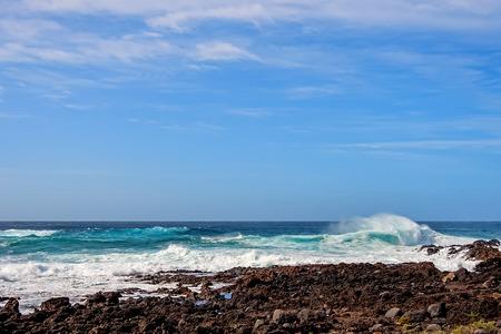 Atlantic coast of the island of Tenerife Stok Fotoğraf