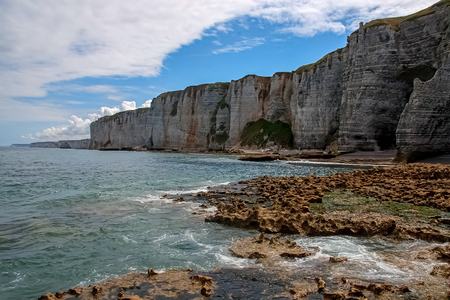 Normandy limestone cliffs