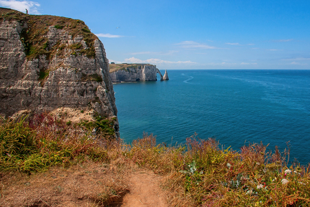 Limestone cliffs of Etretat