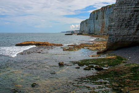 Normandy limestone cliffs with its beautiful shape Stock fotó