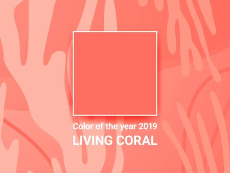 Color of the year 2019. Living Coral. Abstract background.