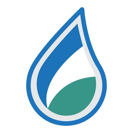 water logo design illustration Illustration