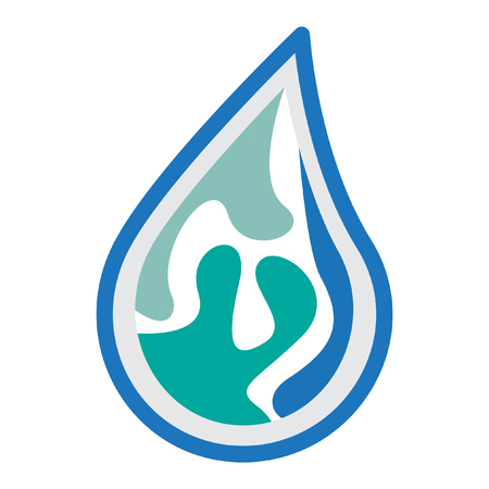 h2o: water logo design