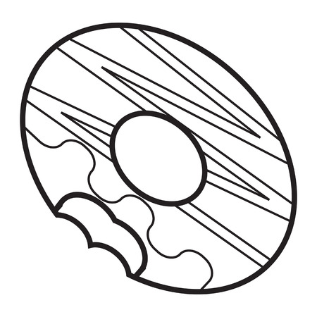 fried: donuts icon outline