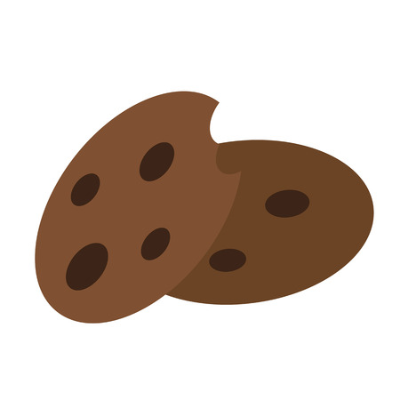 cookies icon flat color