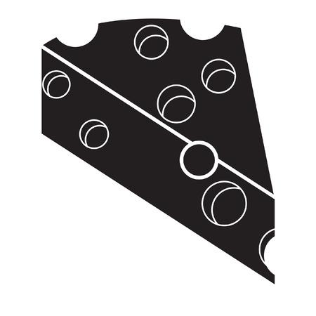 A cheese icon flat black. Çizim