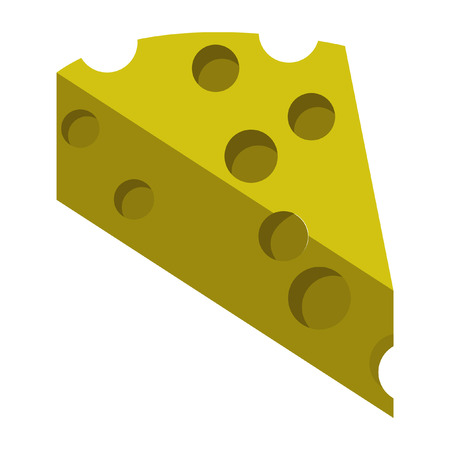 A cheese icon flat color.