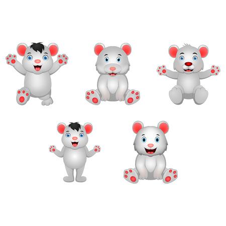 Cartoon polar bear  イラスト・ベクター素材