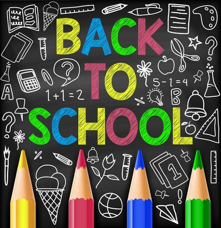 Back to school . vector illustration