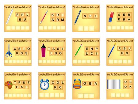 educational spelling scramble game