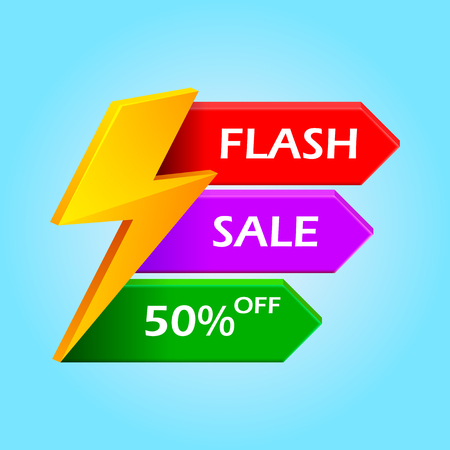 Flash Sale with thunder vector illustration