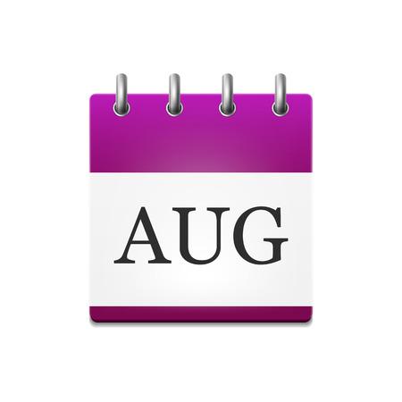 illustration of the calendar in August Illustration