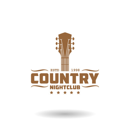 Vintage country music icon template Stock Illustratie
