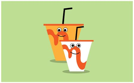 the 2 cute soda cup glass