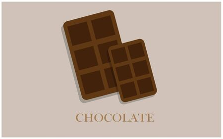 The yummy chocolate vector design