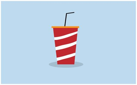 The red soda glass vector Banco de Imagens - 139015490