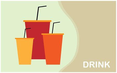 The 3 soda cup vector design