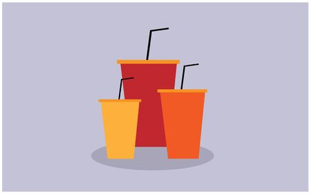The soda cup glass vector