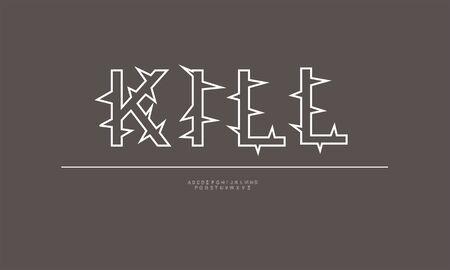 alphabet font design for text effect 向量圖像