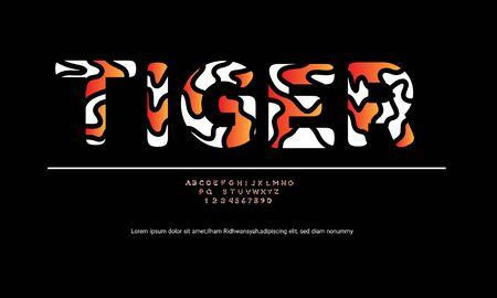 Alphabet font design for text effect