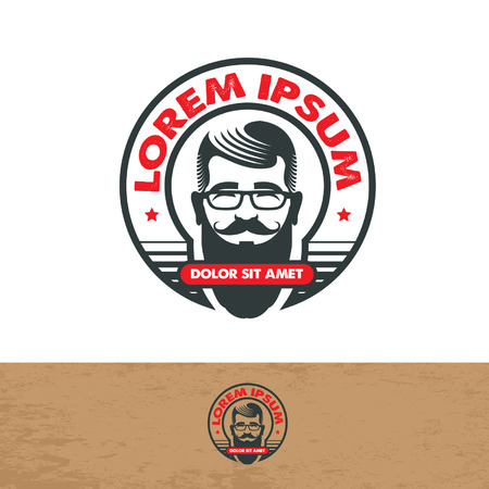barber: Barber shop icon template