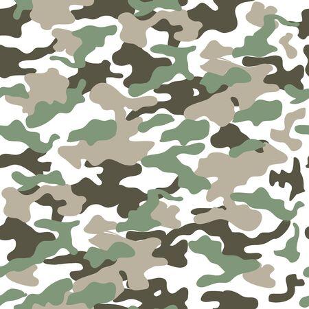 Camuflaje de patrones sin fisuras, estampado de uniforme militar, fondo, ejército, soldado Ilustración de vector