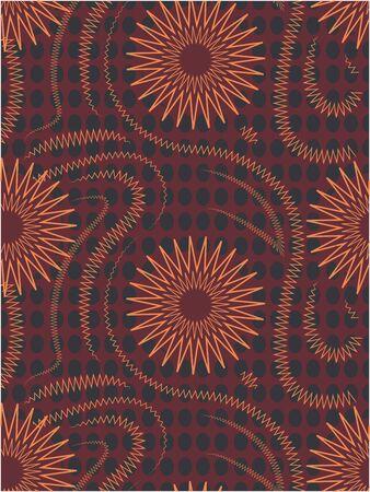 Complex star vector seamless pattern. Geometric background 向量圖像