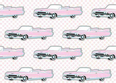 Seamless Pattern Classic cars.Vector Illustration 일러스트