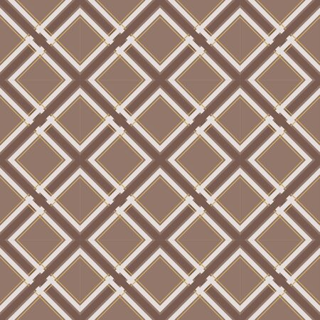 Plaid seamless pattern. Brown tartan print for fabric. - Vector