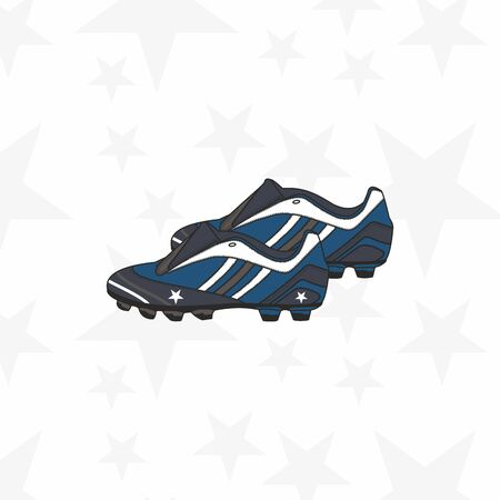 Soccer shoes vector isolated on white background.