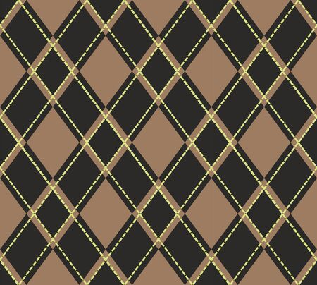 Scottish tartan plaid pattern. Seamless diagonal shapes background. - Vector