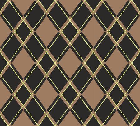 Scottish tartan plaid pattern. Seamless diagonal shapes background. - Vector Illustration