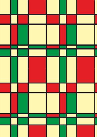 Seamless colorful square pattern. Geometric background. - Vector Vector Illustratie