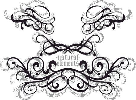 Ornamental floral pattern. Natural elements. - Vector
