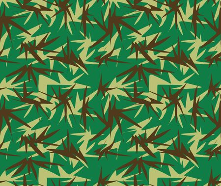 Camouflage seamless pattern, military uniform, army, soldier texture background. - Vector