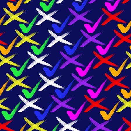 Multicolored splash watercolor seamless pattern. Brush strokes background. Colorful digital print. - illustration.